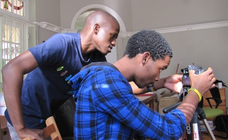 Mthokozisi Lembethe and Sandile Nzuza, film-makers for ICON.